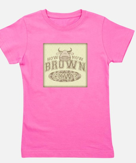 Brown Cow Girl's Tee