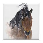Chestnut Horse Tile Coaster