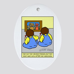 Looney Twins Best Friends Ornament (Oval)