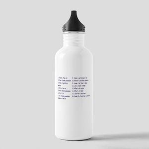 Rules Water Bottle