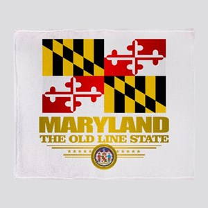 Maryland Pride Throw Blanket