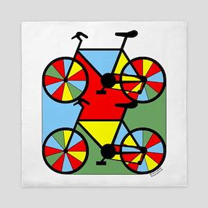 Colorful Bikes Queen Duvet