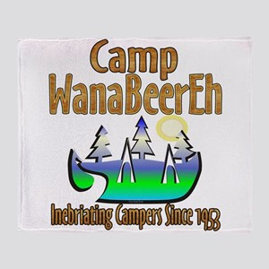 Camp WanaBeerEh Throw Blanket