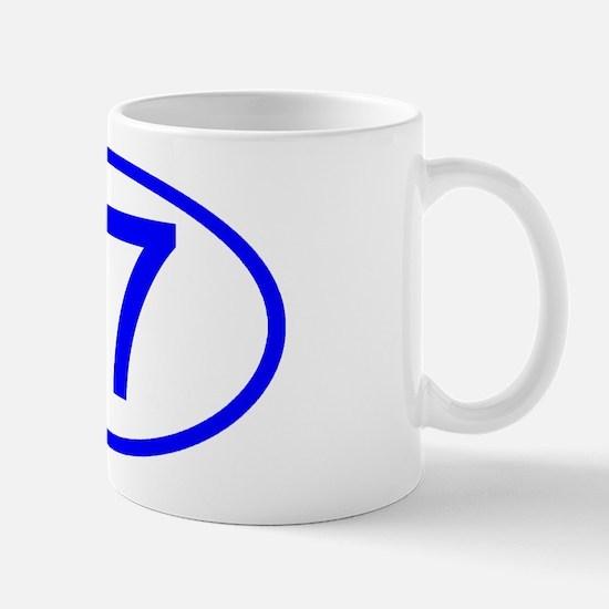 Number 67 Oval Mug