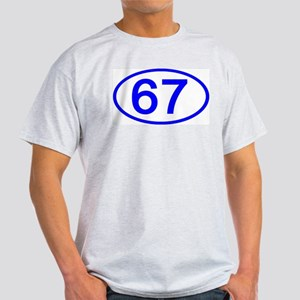 Number 67 Oval Ash Grey T-Shirt
