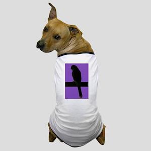 Parrot- purple Dog T-Shirt