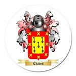 Chaves Round Car Magnet