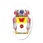 Chavaneau Oval Car Magnet