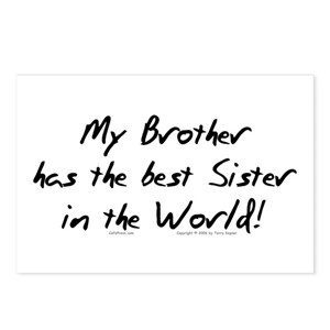 My Sister Has The Best Sister In The World Postcards Cafepress