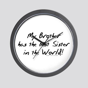 My Brother, Best Sister Wall Clock