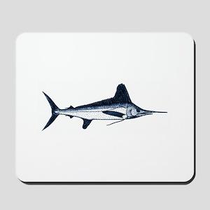 White Marlin Logo Mousepad