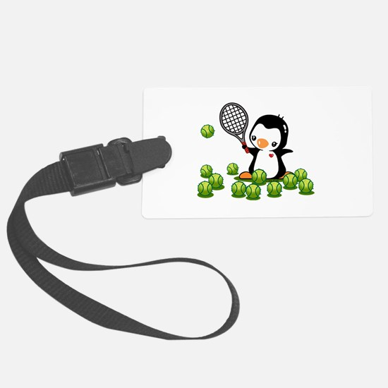 Tennis Penguin Large Luggage Tag