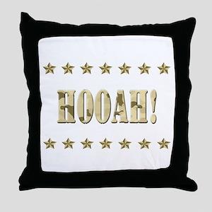Hooah! Throw Pillow