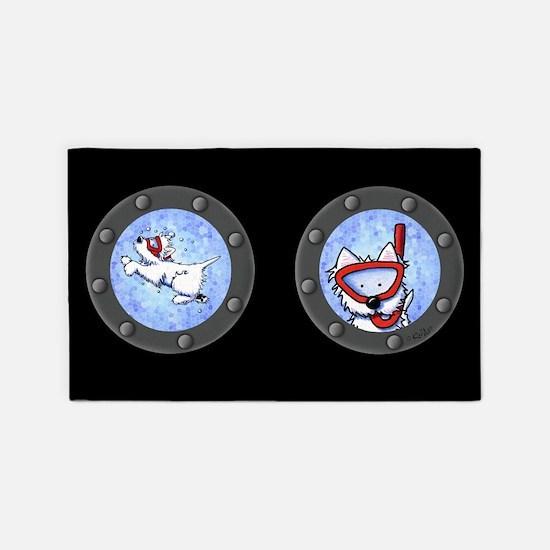 Snorkel Westies 3'x5' Area Rug