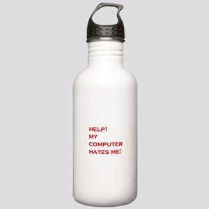 help computer hates me Stainless Water Bottle 1.0L