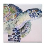 Sea Turtle #18 Tile Coaster