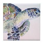Sea Turtle #18 Tile Coaster