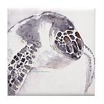 Sea Turtle Baby Tile Coaster