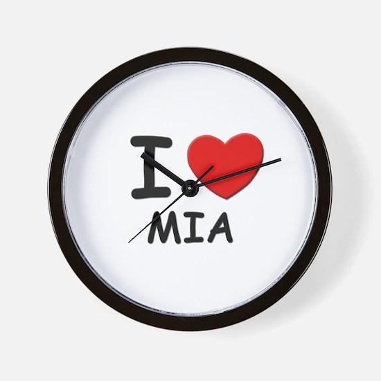 I love Mia Wall Clock