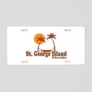 St. George Island - Palm Tree Design. Aluminum Lic