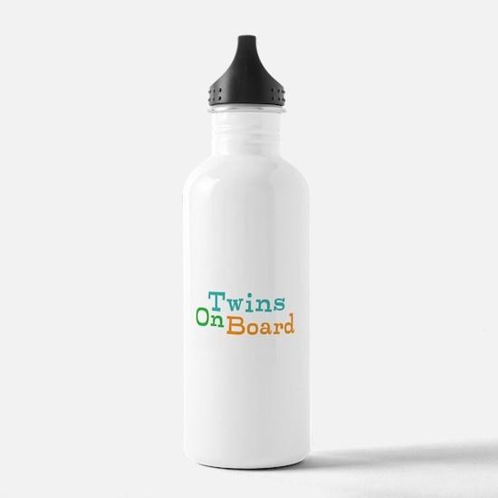 Twins On Board Water Bottle