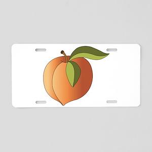 Peach Aluminum License Plate