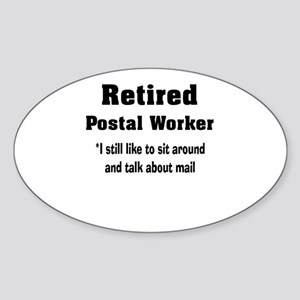 Retired Postal Worker Sticker (Oval)