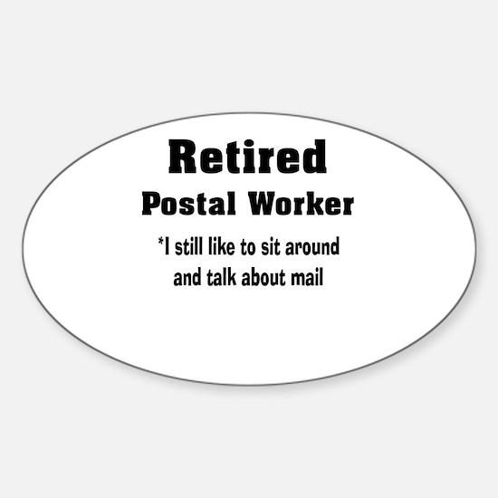 Retired Postal Worker Sticker (Oval)