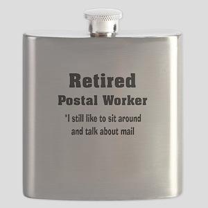 Retired Postal Worker Flask
