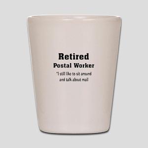 Retired Postal Worker Shot Glass