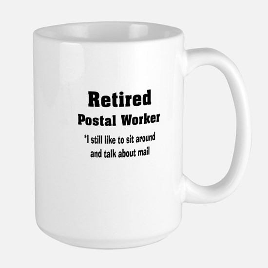 Retired Postal Worker Large Mug