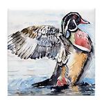 Wood Duck Tile Coaster