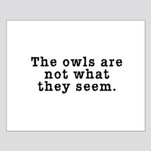 Classic Owls Riddle - Twin Peaks Small Poster