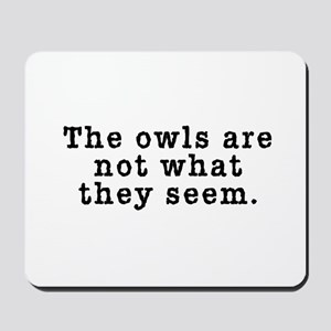 Classic Owls Riddle - Twin Peaks Mousepad
