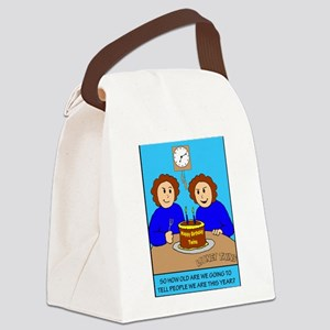 Looney Twins How Old Canvas Lunch Bag