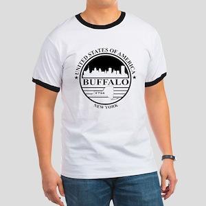 Buffalo logo white and black T-Shirt