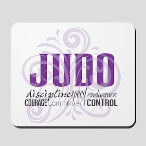 Judo purple scrolls Mousepad
