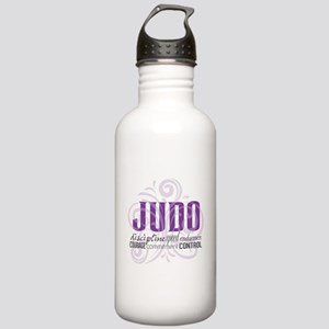 Judo purple scrolls Water Bottle