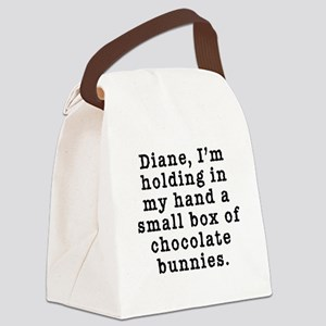 Twin Peaks Chocolate Bunnies Canvas Lunch Bag