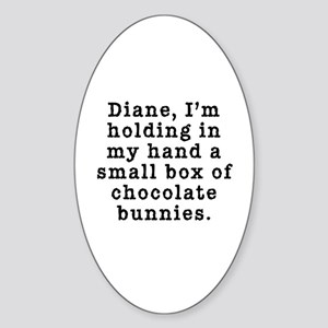 Twin Peaks Chocolate Bunnies Sticker (Oval)