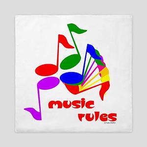 Music Rules Queen Duvet