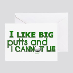I Like Big Putts Greeting Card
