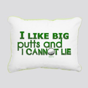 I Like Big Putts Rectangular Canvas Pillow