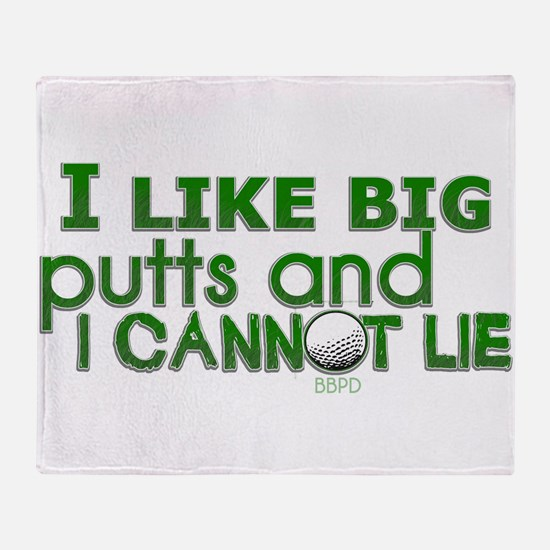 I Like Big Putts Throw Blanket