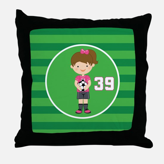 Soccer Sports Number 39 Throw Pillow