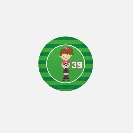 Soccer Sports Number 39 Mini Button