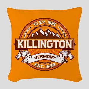 Killington Tangerine Woven Throw Pillow