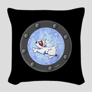 Snorkel Westies Woven Throw Pillow