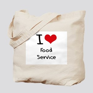I Love Food Service Tote Bag