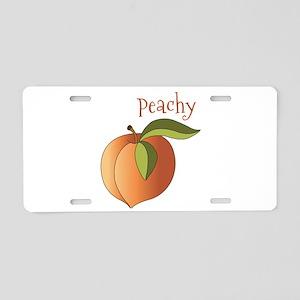 Peachy Aluminum License Plate